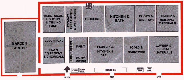 Home Depot Store Layout Map Images
